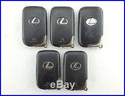 5 x Lexus IS250, IS220d, Etc. 3 Button Smart Key Fobs Job Lot Tested