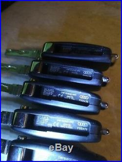 LOT OF 5 AUDI KEY FOB ENTRY REMOTES 434mhz