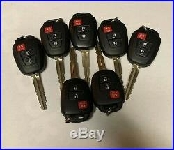 LOT OF 7 OEM Toyota Remote Key 3 buttons 315Mhz HYQ12BDM H Chip FOB LOT