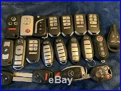 Lot Of 20 Ford Acura Toyota And More Smart Key Fob Remotes OEM