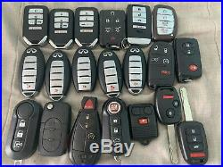 Lot Of 20 Toyota Lexus Ford And More Smart Key Fob Remotes OEM