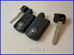 Lot Of 2 Acura Rl 05-10 Dr#1,2 Smart Key Less Entry Remote Oem With Uncut Insert