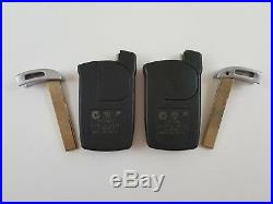 Lot Of 2 Bmw 7-series Oem Smart Key Less Remote With Uncut Insert 6 959 O59-01