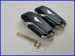 Lot Of 2 Ford Mustang 15-17 Oem Remote Start Smart Key Less Entry With Uncut Fob