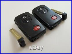 Lot Of 2 Toyota 09-17 Prius 4runner Oem Smart Key Less Entry Remote With Uncut