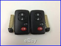 Lot Of 2 Toyota Venza 09-16 Oem Smart Key Less Entry Remote With Uncut Insert Us