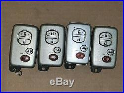 Lot Of Toyota Camry Smart Key Remotes Fob Keyless Entry Remotes Fobs Hyq14aab