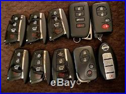 Lot of 10 Remote Smart Key Fobs OEM Toyota Lexus Nissan Hyundai All Tested Save