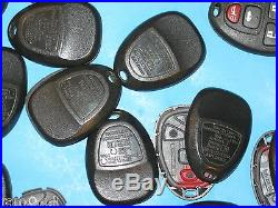 Lot of 15 NICE OEM GM 22733524 USED KEY FOB REMOTE CASES With New Pads! NICE