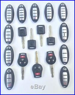 Lot of 18 Nissan Key Fobs 3/4/5 Button