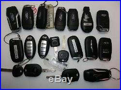 Lot of 19 Key Fob Remote Mix Plus Keys OEM Exactly as Pictured