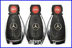 Lot of 3 Mercedes Benz Keyless Entry Remote Fobs KR55WK49031 MB Smart Key