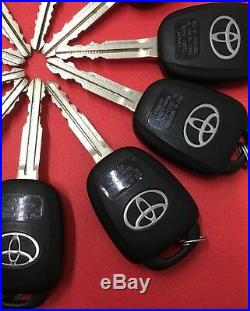 OEM(LOT of 10)TOYOTA COROLLA 2014-16 H-CHIP KEY LESS ENTRY REMOTE FOB 4Butn