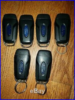 Used Lot Of 6 Genuine OEM Ford Flip 3 / 4 Button Key Fob Remotes No Reserve